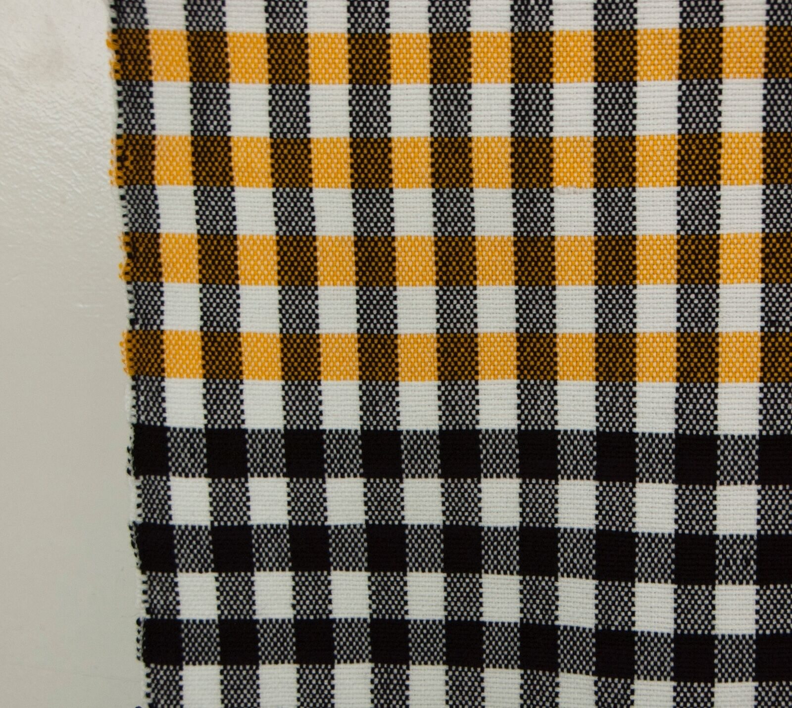 All Merino Wool Knotted Fringe Moroccan Hand Made Blanket Throw 7/' x 6/' Checkerboard Pattern Mustard Yellow and Black